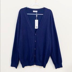 NWT Paul Jones Navy Blue Cardigan Size 2XL